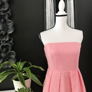 J. Crew pretty pink textured strapless dress 6